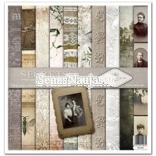"A set of scrapbooking paper ""Secrets of the old diary"""