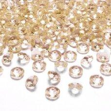 Stikliniai karoliukai – dekoracijos, aukso spalva