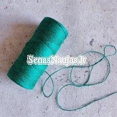 Švelnus žalios spalvos lininis špagatas