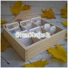 Šešių skyriukų dėžutė, arbatinė