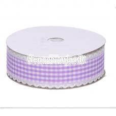 Violetinė languota juostelė su banguotu krašteliu