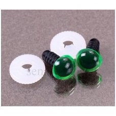 Plastic safety eyes green, 1 pair